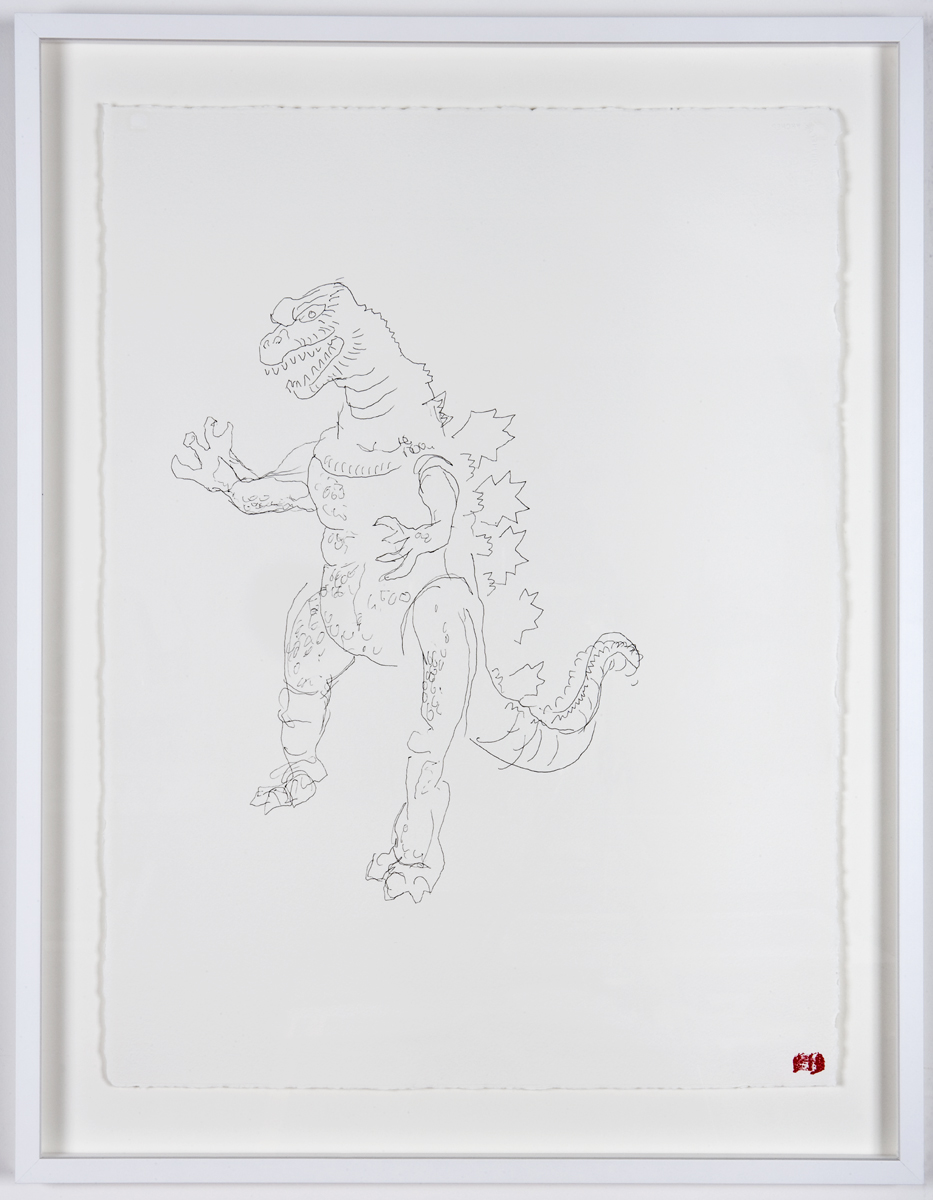 Blind Contour Drawing - Godzilla