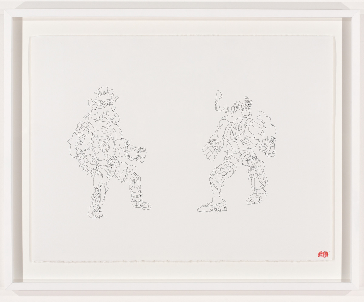 Blind Contour Drawing - Bebop & Rocksteady