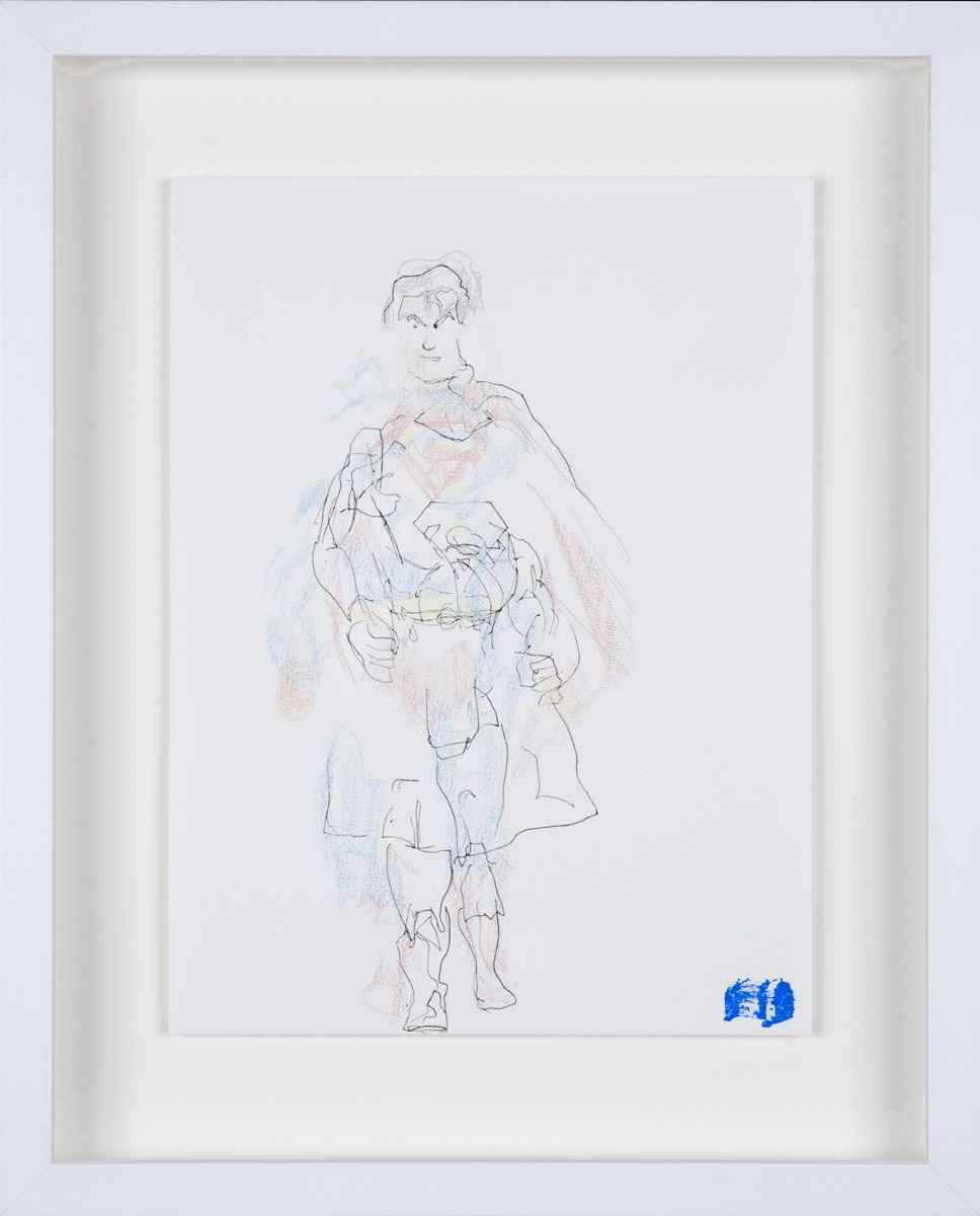 Blind Contour Drawing - Superman