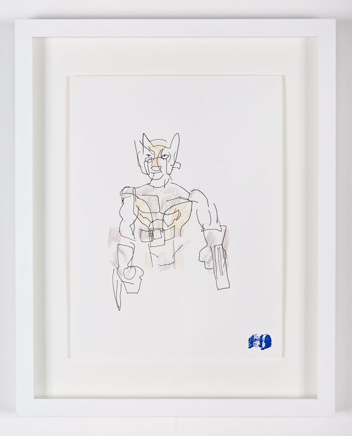 Blind Contour Drawing - Wolverine